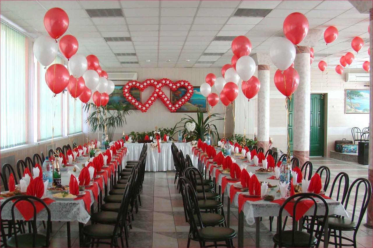 как украсить свадебный зал своими руками фото