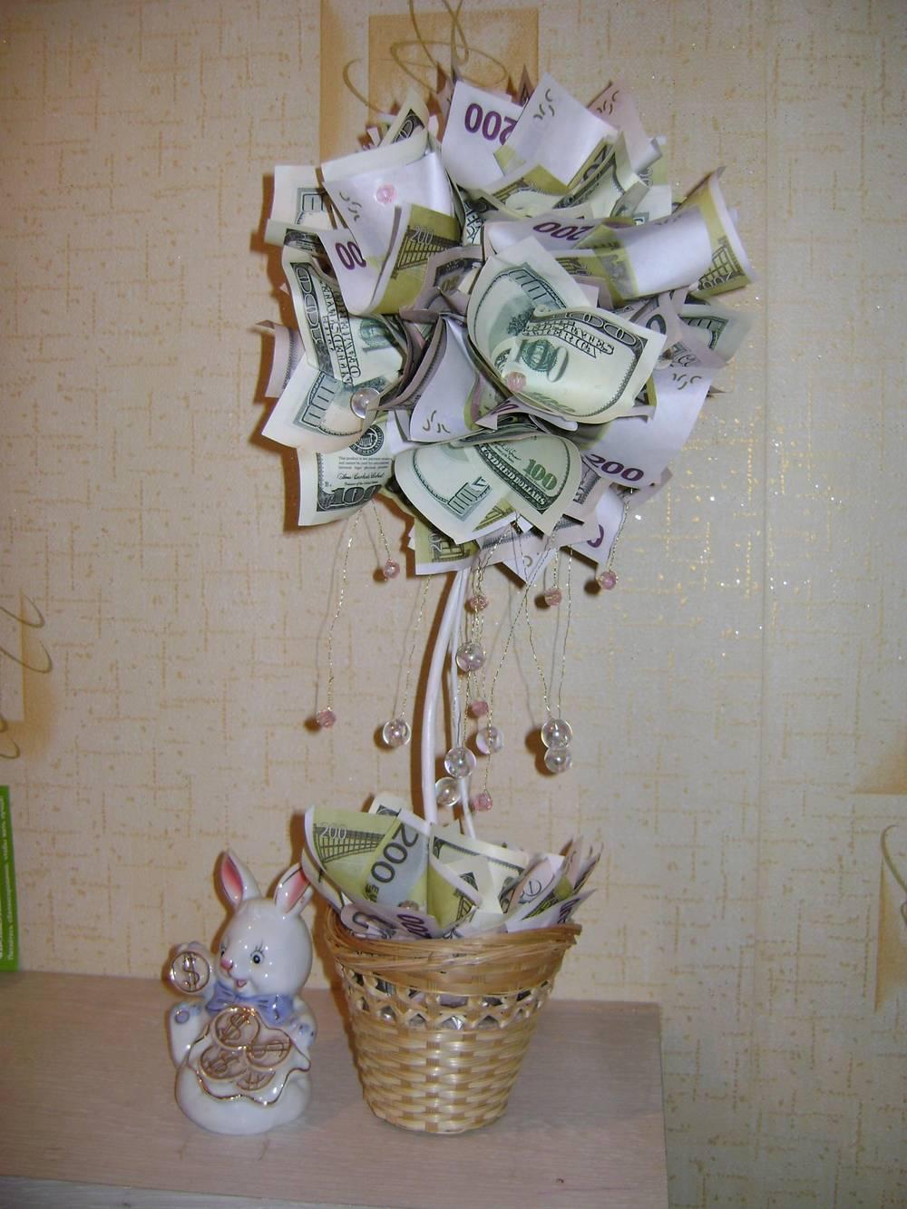 В подарок на свадьбу денежное дерево