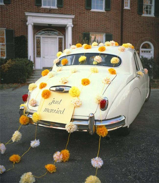 как украсить машину к свадьбе