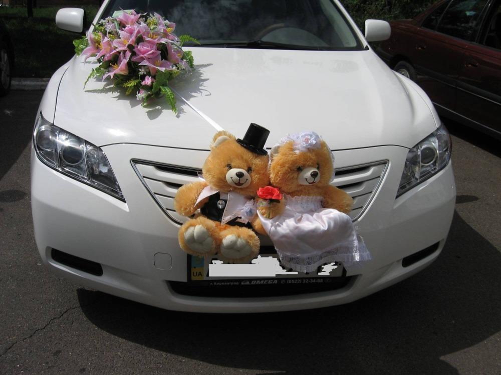 украсить машину на свадьбу фото