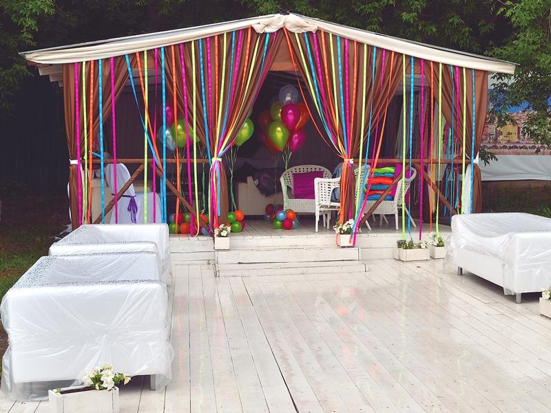 Как украсить свадебный шатер своими руками