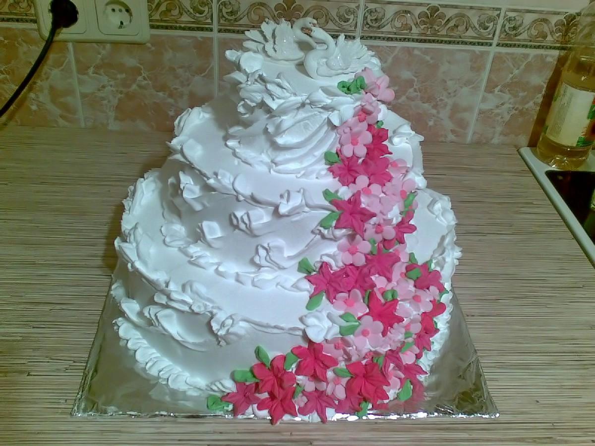 Как приготовить свадебный торт в домашних условиях фото