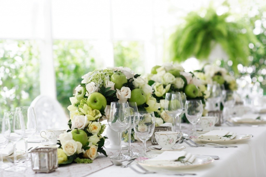 Dining room flower arrangements