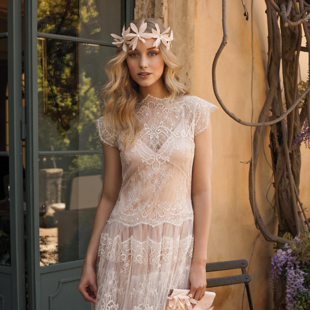 Свадебное платье рустик