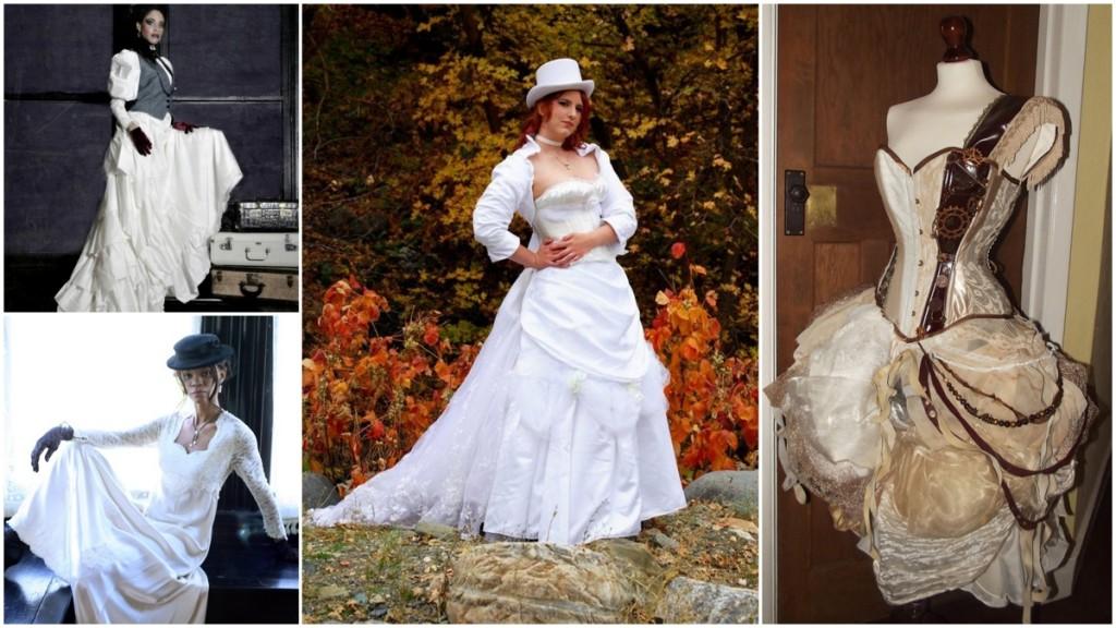тематическое свадебное платье