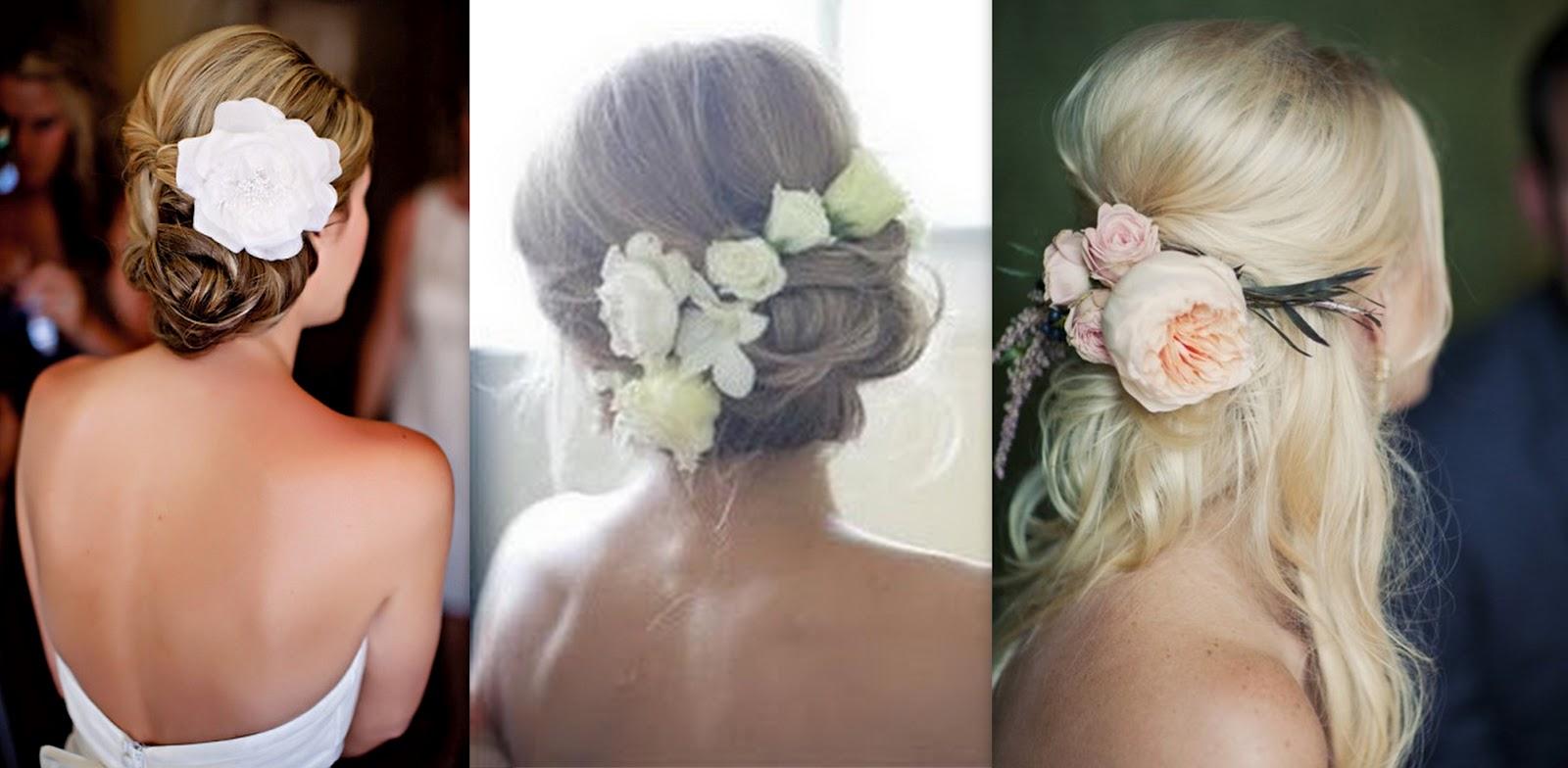 Цветы для причесок невесты