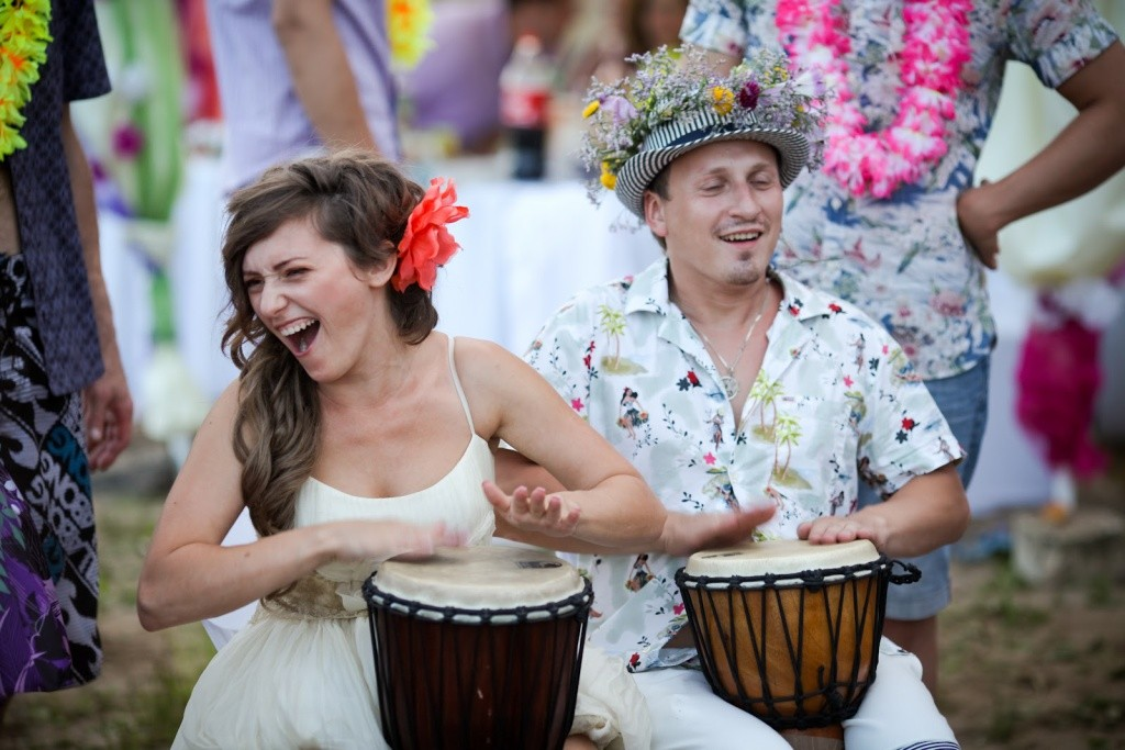 гавайская свадьба