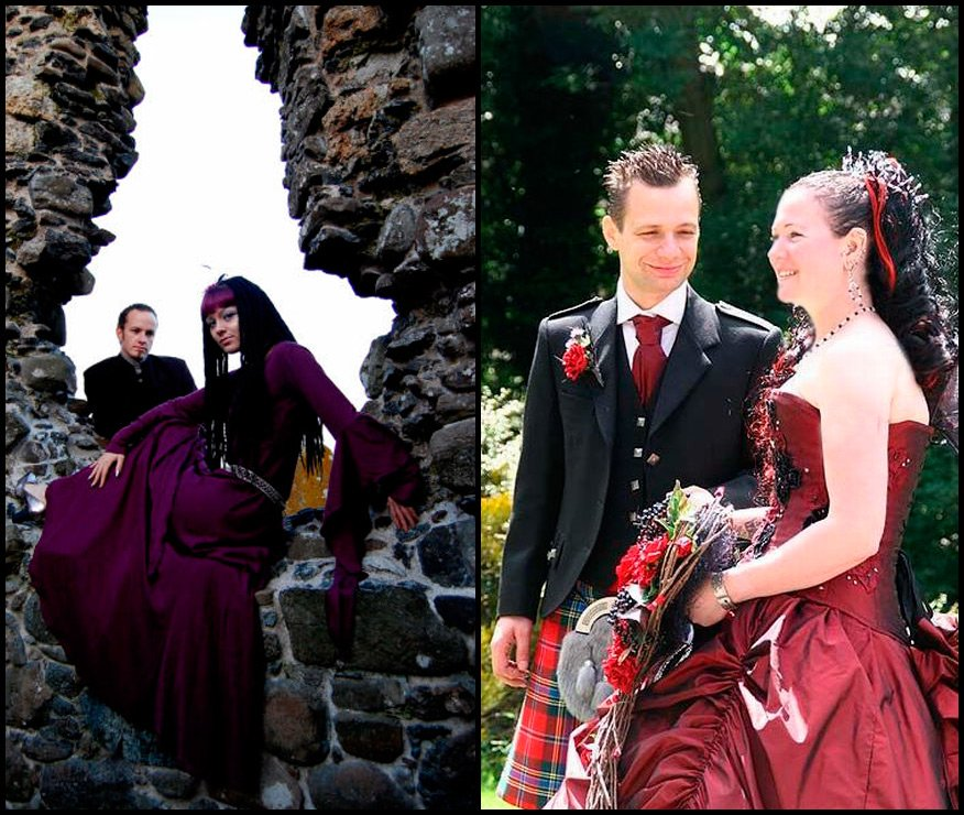 свадьба неформалов