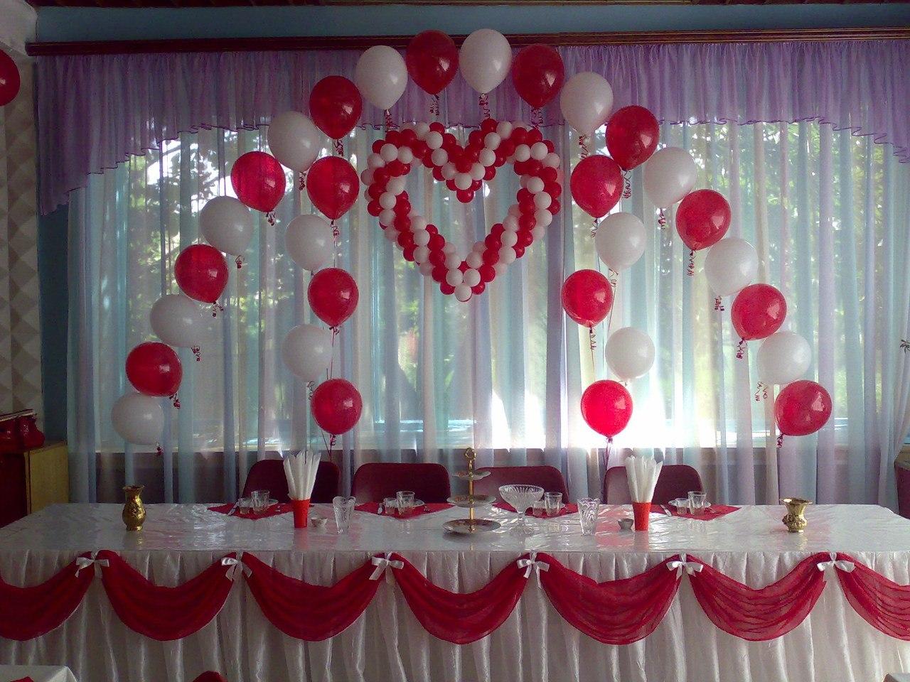 Из шаров украсить свадьбу зал своими руками