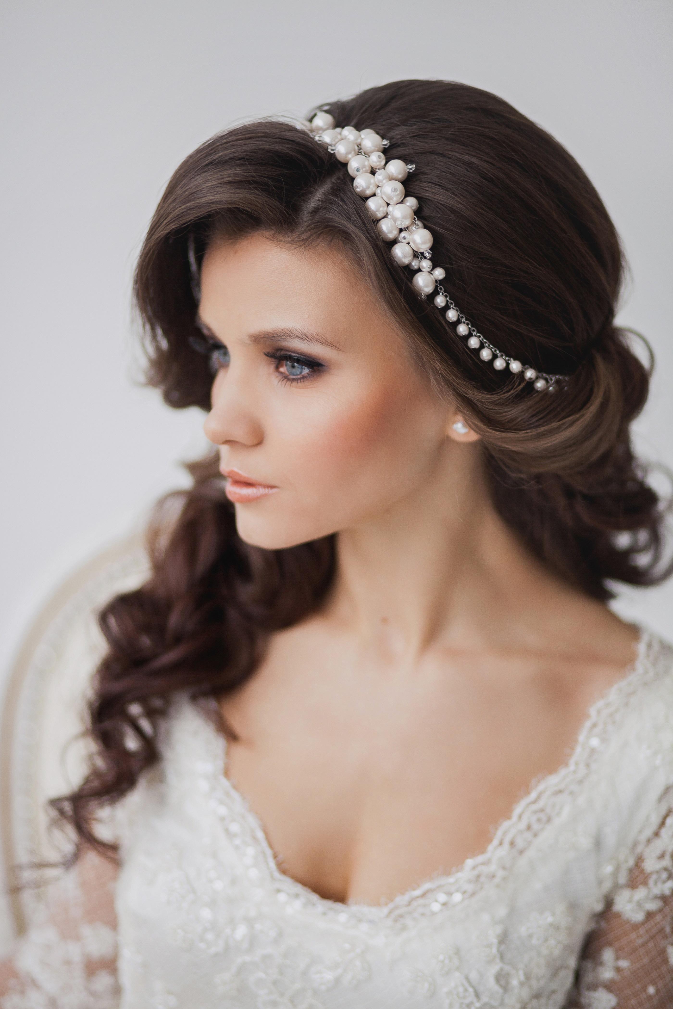 Прически фото на свадьбу с распущенными волосами