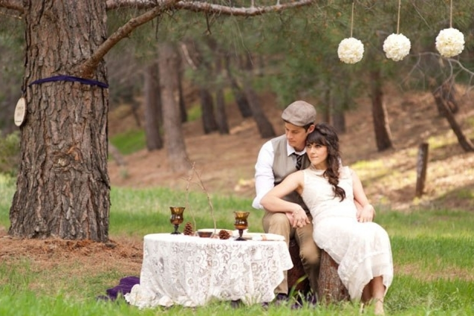 Rustic field wedding