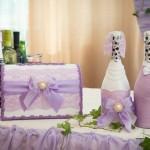 Как украсить шампанское на свадьбу